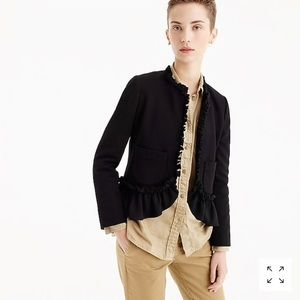 J Crew The Going-Out Blazer With Ruffle